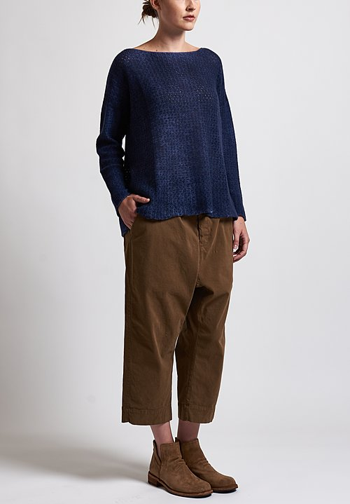 f Cashmere Perforated Sweater in Blue