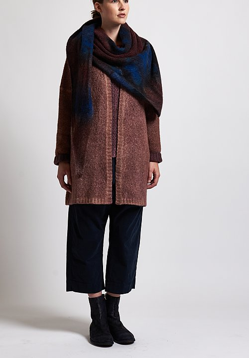 f Cashmere Open Front Cardigan in Brick