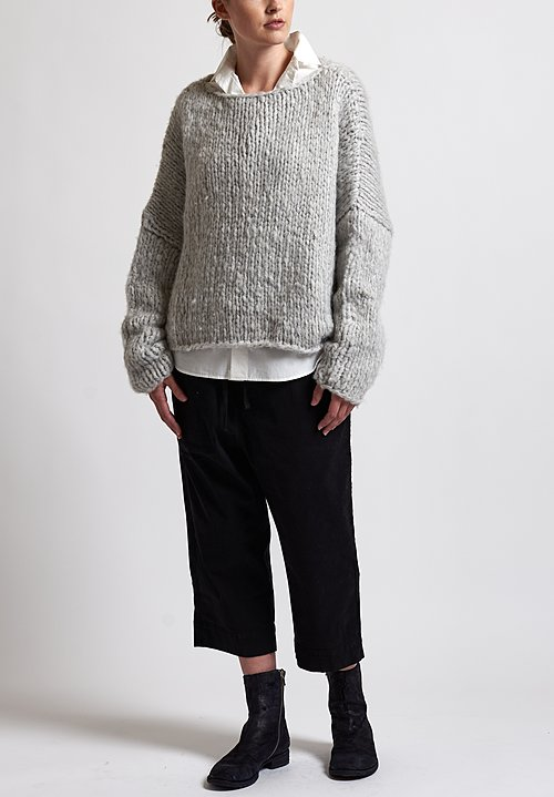 f Cashmere Loose Knit Sweater in Grey
