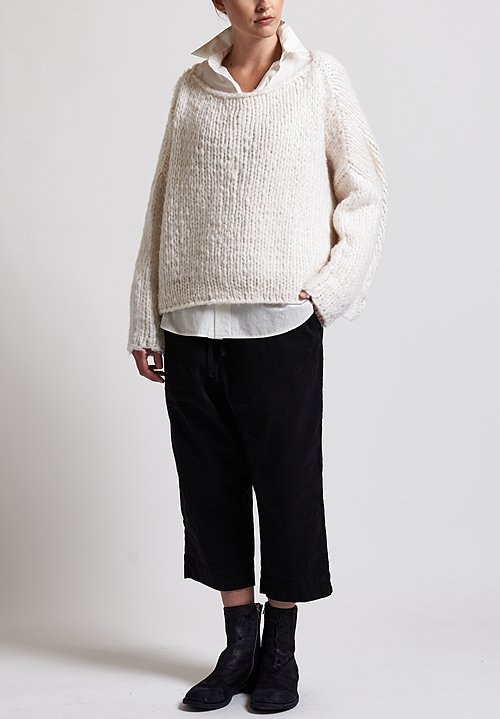 f Cashmere Loose Knit Sweater in White