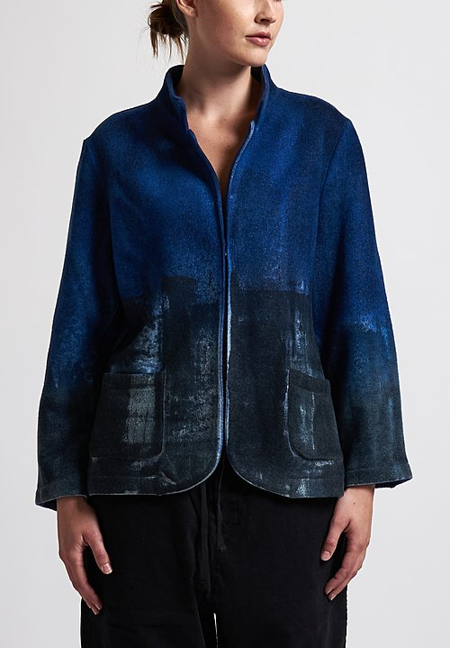 f Cashmere Blazer Jacket in Blue