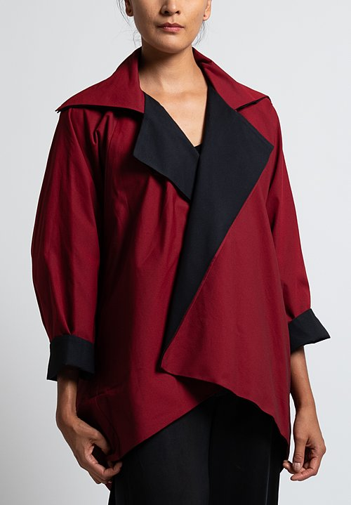 Issey Miyake Swell Jacket in Red/ Black