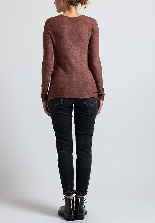 Avant Toi Fitted Sweater in Brick
