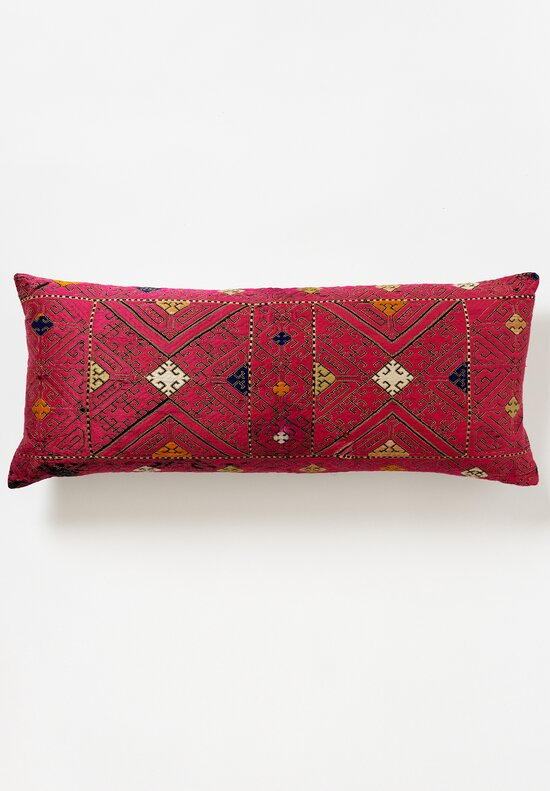 Antique and Vintage Swati Lumbar Pillow in Red