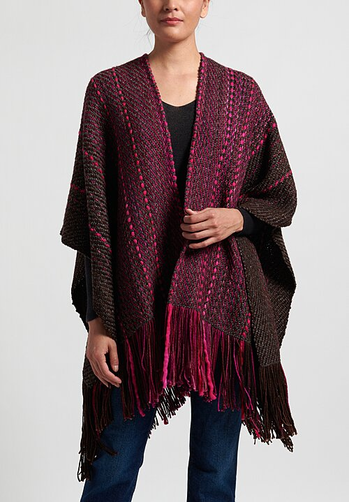 Wehve Merino Ava Oversized Cape in Cartagena