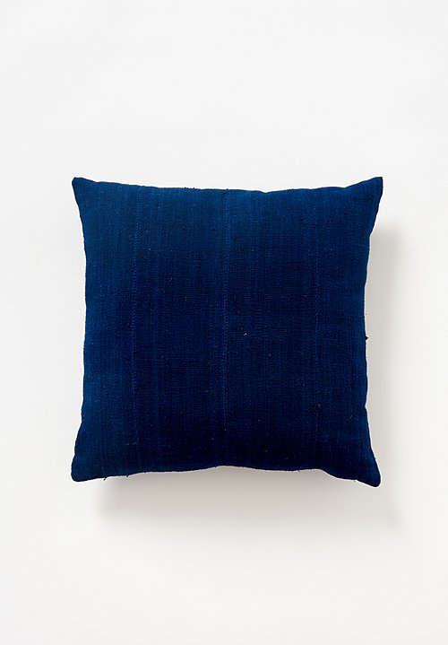 Aboubakar Fofana Indigo Dyed Cushion in Dark