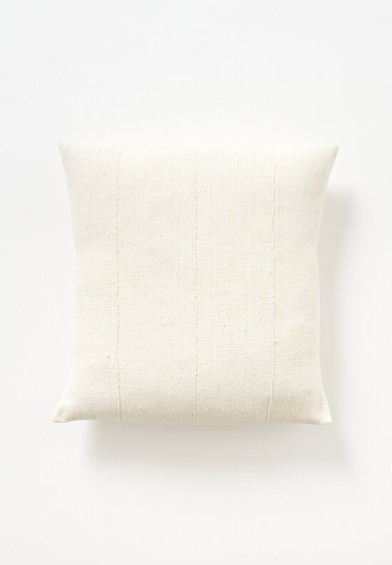 Aboubakar Fofana Handspun Cotton Cushion in White