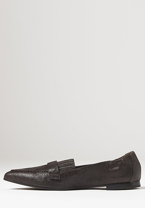 Brunello Cucinelli Burnished Leather Flats