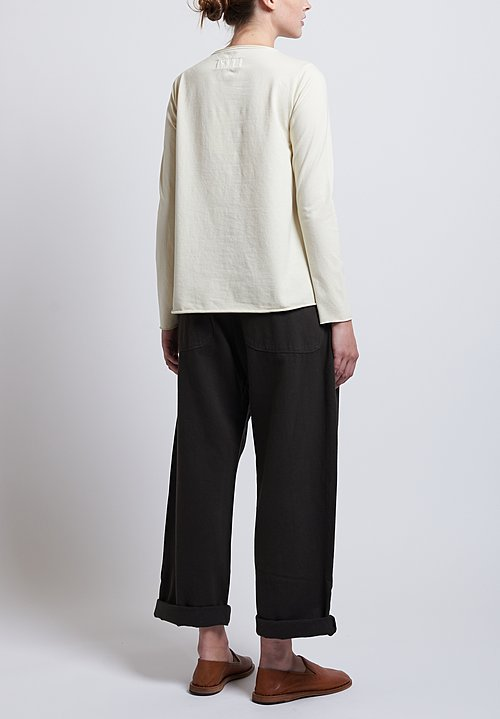 Labo.Art Stretch Cotton Jeppe Jersey Tee in Winter White