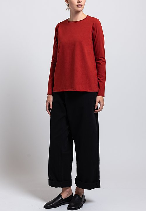 Labo.Art Stretch Cotton Jeppe Jersey Tee in Autunno