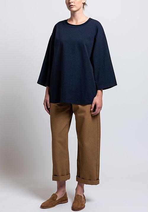 Labo.Art Cotton Ben Pan Relaxed Jersey Tee in Atlantic