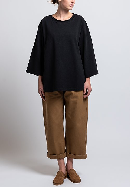 Labo.Art Cotton Ben Pan Relaxed Jersey Tee in Black