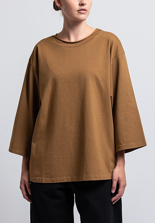 Labo.Art Cotton Ben Pan Relaxed Jersey Tee in Cammello