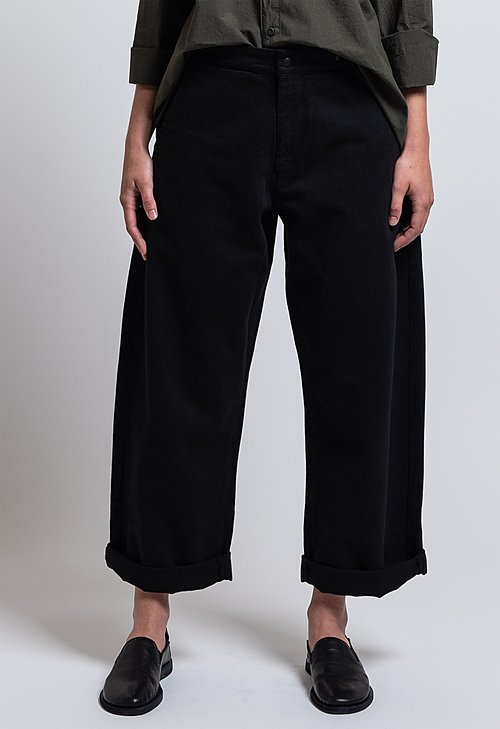 Labo.Art Cotton Fire Mel Relaxed Pant in Black
