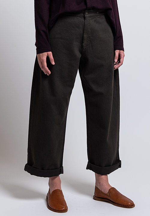 Labo.Art Cotton Fire Mel Relaxed Pant in Castagna