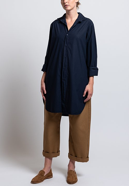 Labo.Art Cotton Bis Sushi Long Shirt in Atlantic