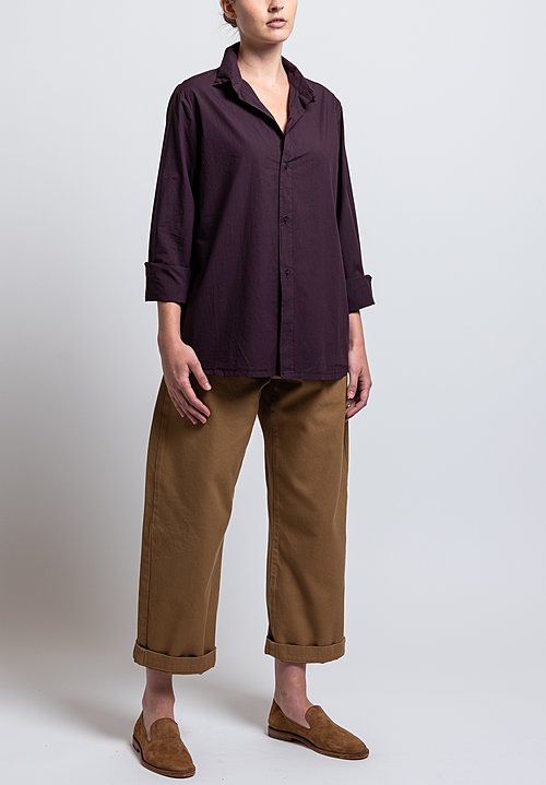 Labo.Art Cotton Paola Sushi Shirt in Aubergine