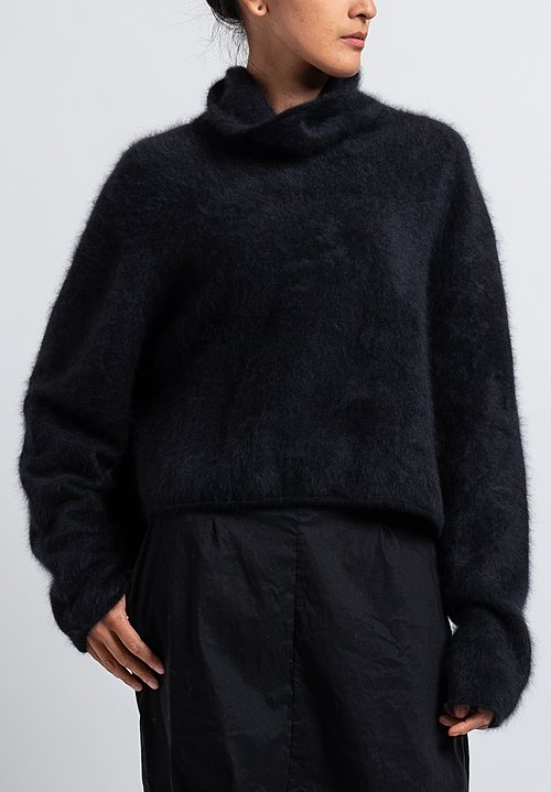 Rundholz Back Pouch Sweater in Black
