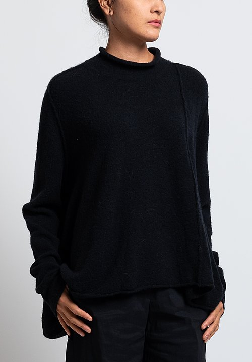 Rundholz Wool/ Baby Alpaca A-Line Sweater in Black