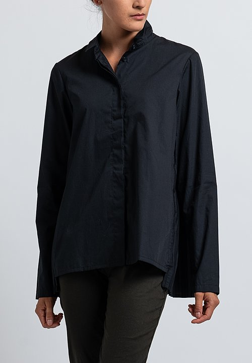 Rundholz Black Label Pleated Back Shirt in Black
