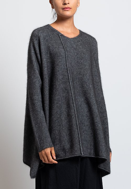 Rundholz Racoon Dehaired A-Line Sweater in Grey