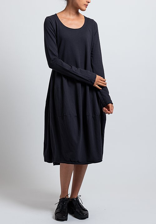 Rundholz Black Label Long Sleeve Tulip Dress in Dark Blue