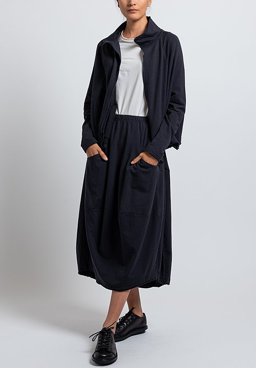 Rundholz Black Label Short Reverse Seam Jacket in Dark Blue