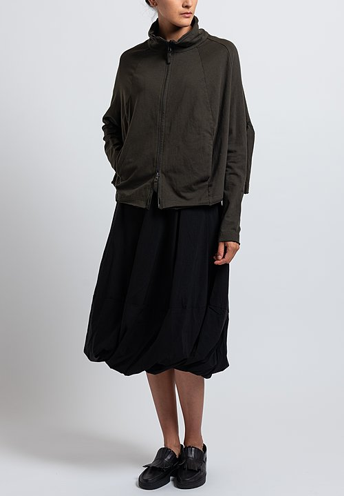 Rundholz Black Label Short Reverse Seam Jacket in Dark Olive