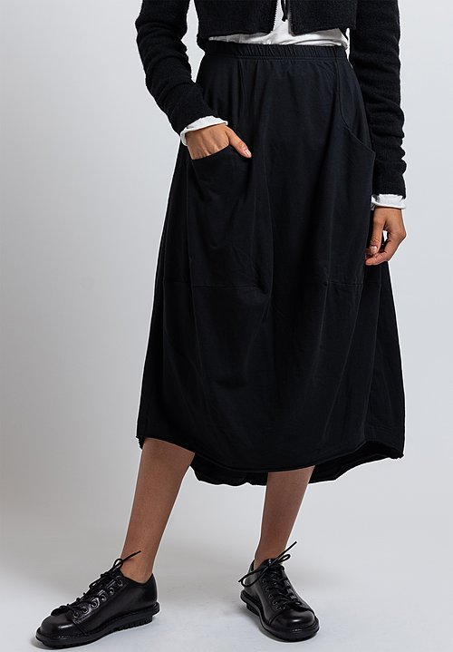 Rundholz Black Label Reverse Seam Tulip Skirt in Black