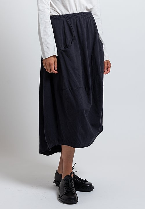 Rundholz Black Label Reverse Seam Tulip Skirt in Dark Blue