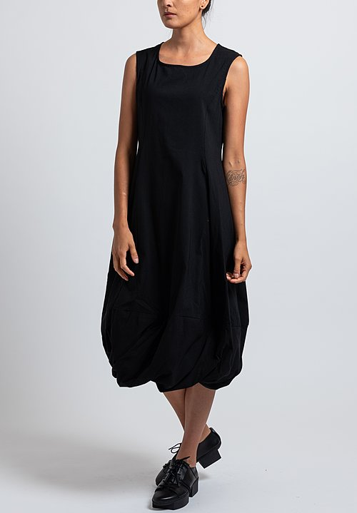 Rundholz Black Label Sleeveless Balloon Hem Dress in Black