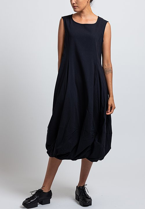 Rundholz Black Label Sleeveless Balloon Hem Dress in Dark Blue