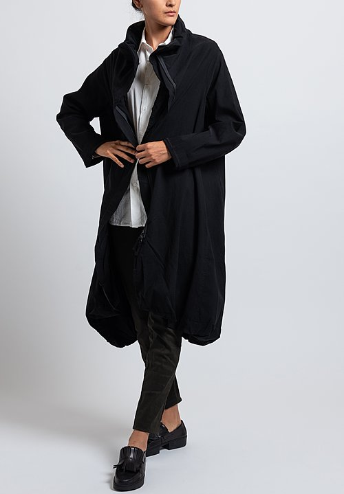 Rundholz Black Label Long Balloon Jacket in Black