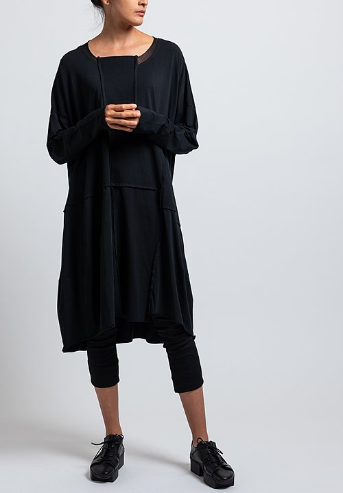 Rundholz Black Label Oversized Bonded Mesh Dress in Black