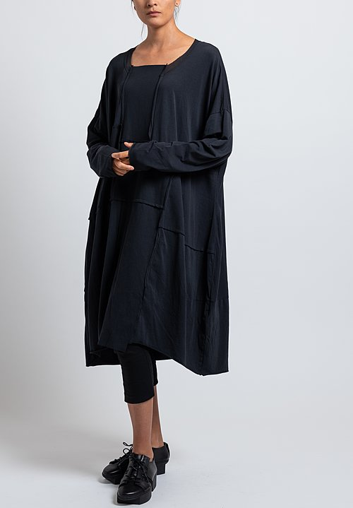 Rundholz Black Label Oversized Bonded Mesh Dress in Dark Blue