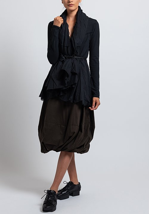 Rundholz Black Label Oversized Flared Collar Jacket in Black