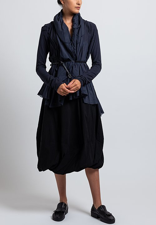 Rundholz Black Label Oversized Flared Collar Jacket in Dark Blue