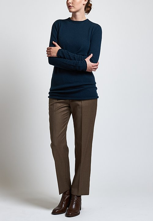 Agnona Cashmere Long Sweater in Teal
