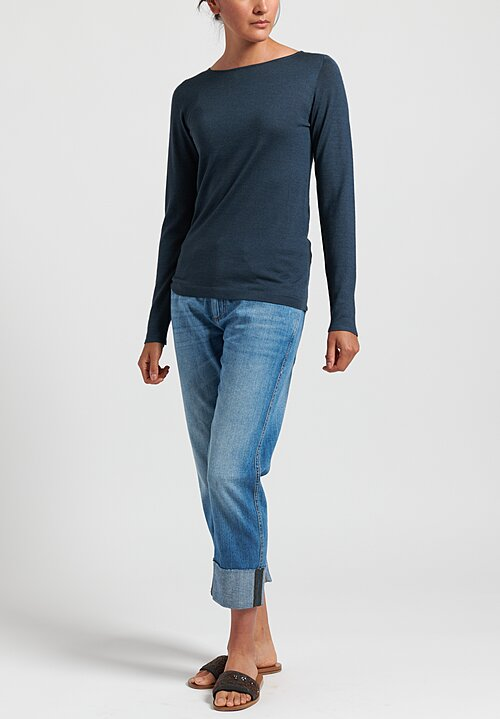 Brunello Cucinelli Lightweight Sweater in Slate