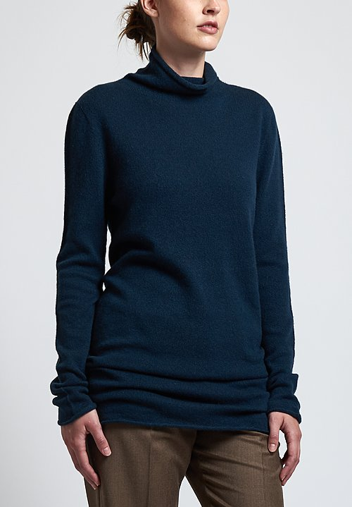 Agnona Long Turtleneck Sweater in Teal