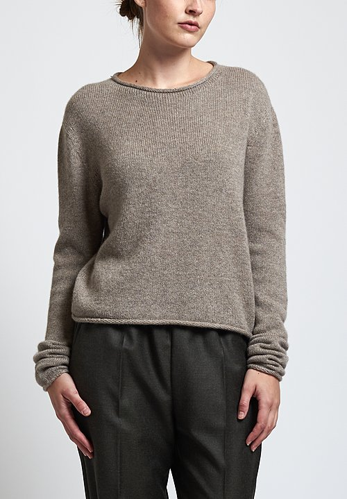 Agnona Cropped Sweater in Natural