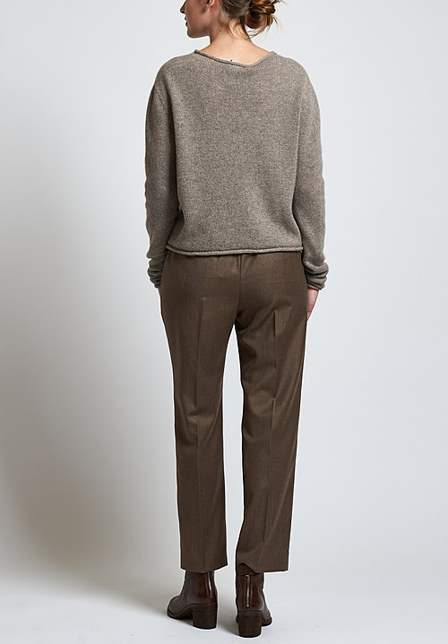 Agnona Long Formal Pants in Beige