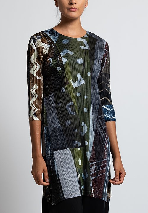 Issey Miyake Pleats Please Swinging Spices Dress in Green