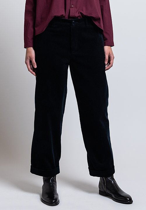 Toogood Jumbo Cord Bricklayer Trousers in Ink
