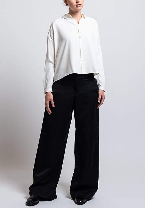 Toogood Satin Poet Trousers in Flint