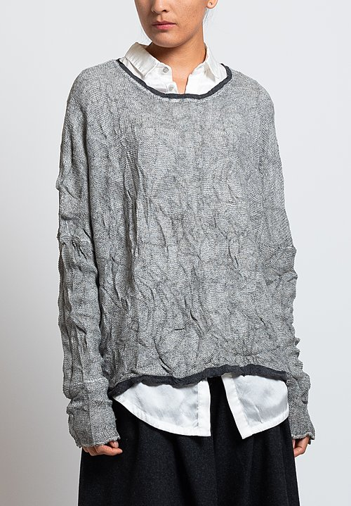 Umit Unal Slouchy Sweater in Grey
