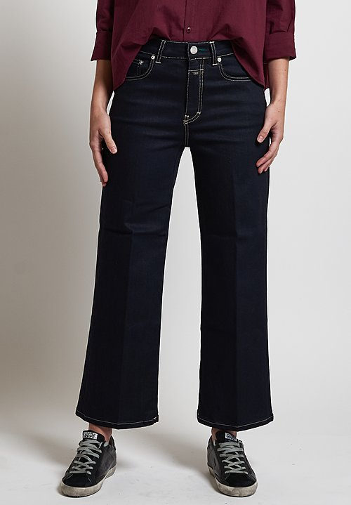 Closed Stretch Glow Wide Jeans in Dark Blue