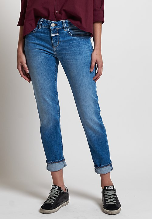 Closed Baker Cropped Narrow Jeans in 33 Mid Blue