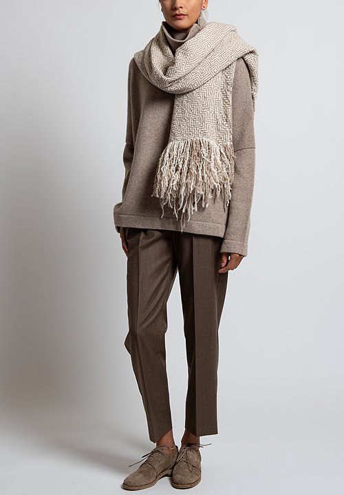 Daniela Gregis Washed Cashmere Woven Scarf