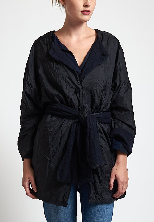 Daniela Gregis Bucaneve Stretto Coat in Black